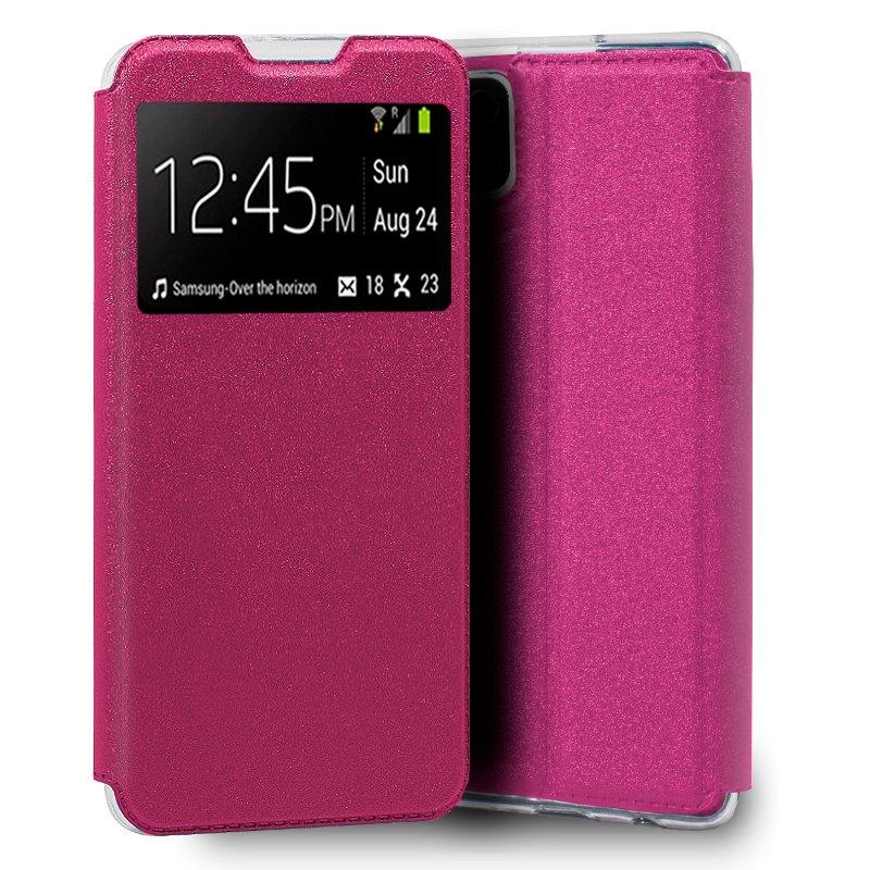 Funda COOL Flip Cover para Samsung A125 Galaxy A12 Liso Rosa