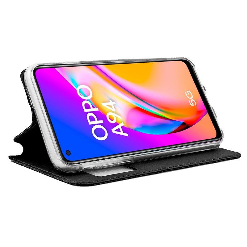 Funda COOL Flip Cover para Oppo A94 5G Liso Negro