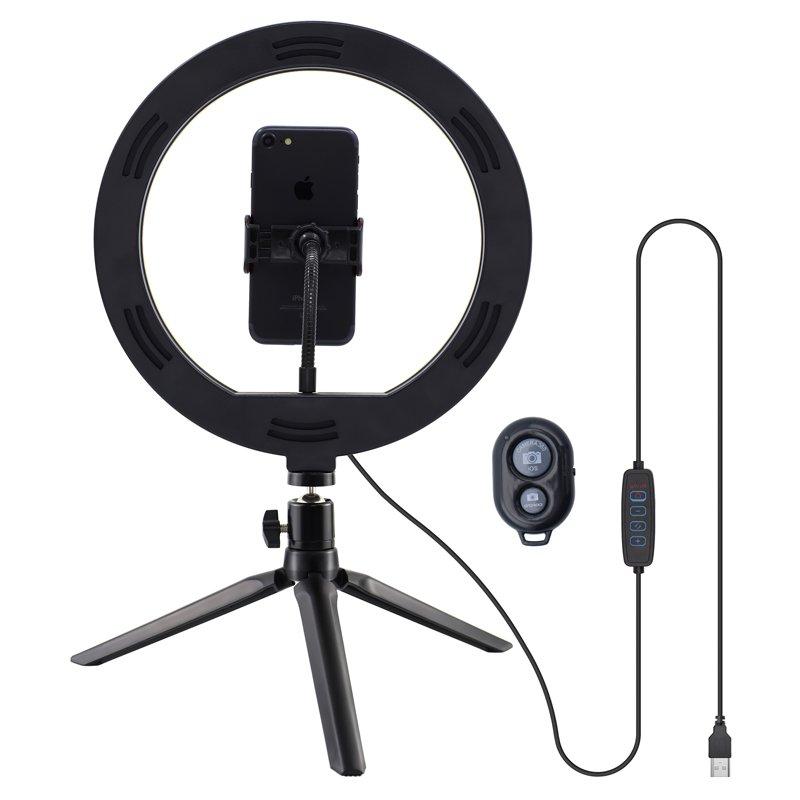 Soporte Sobremesa (50 cm) Aro de Luz LED COOL + Mando Bluetooth