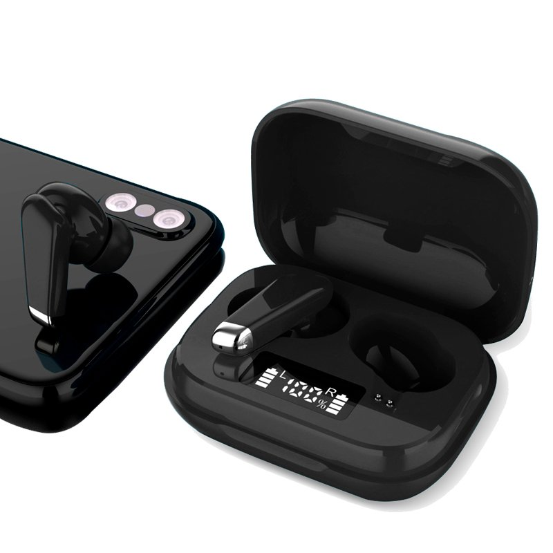 Auriculares Stereo Bluetooth Dual Pod Earbuds COOL URBAN Lcd Negro
