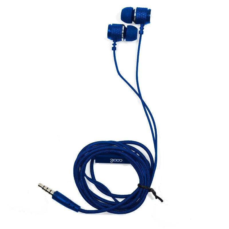 Auriculares 3,5 mm COOL Metalizado Stereo Con Micro Azul