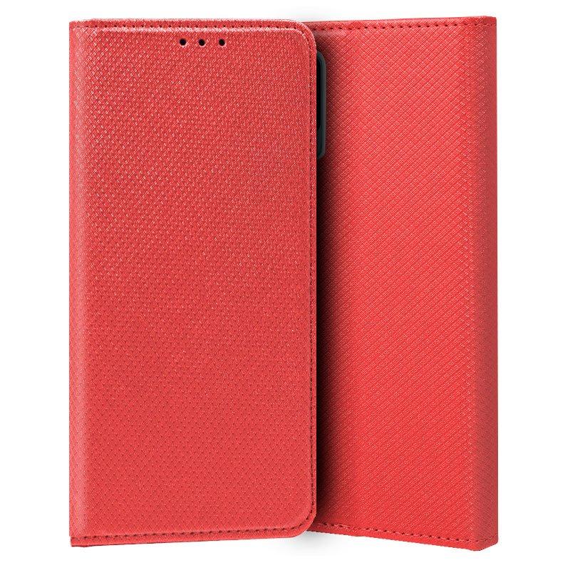 Funda COOL Flip Cover para Realme 8 / 8 Pro Liso Rojo