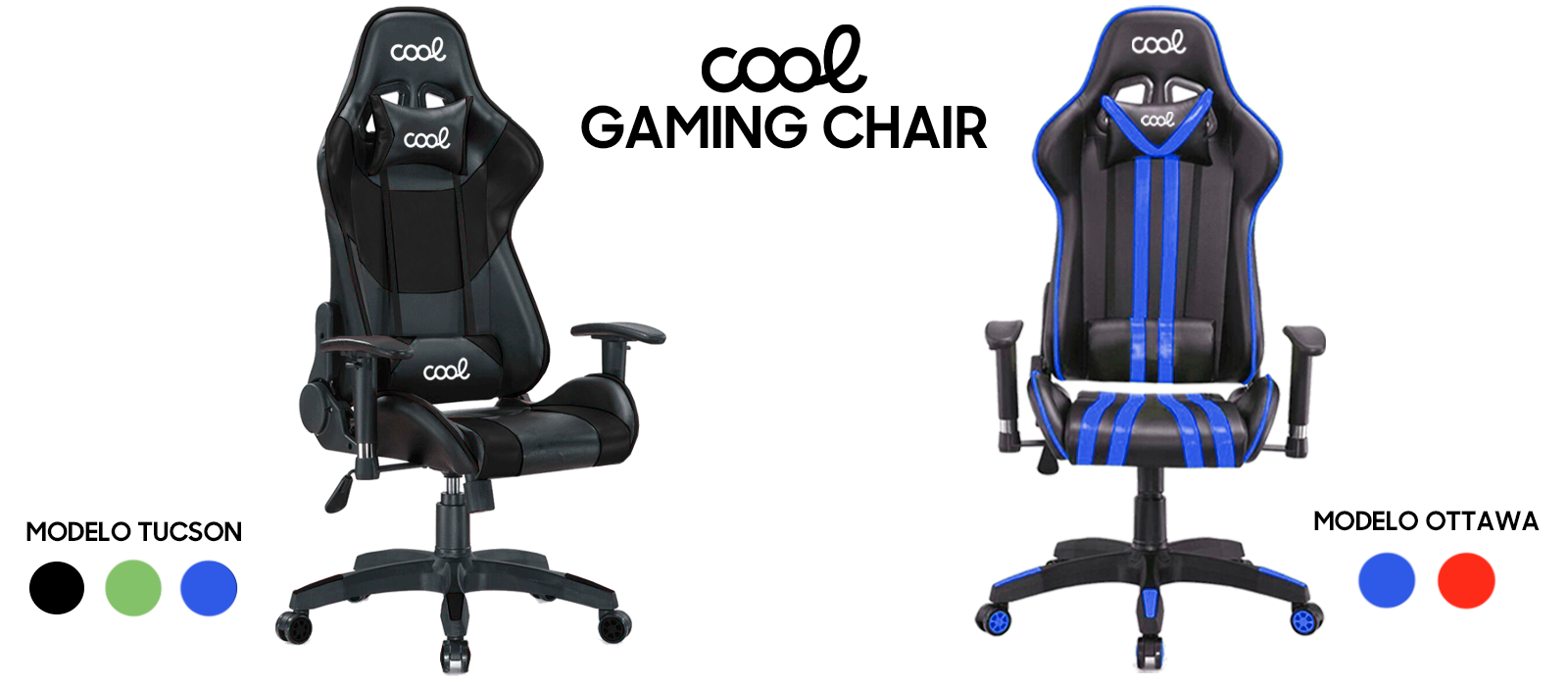 COOL Tucson and COOL Ottawa Gaming Chair